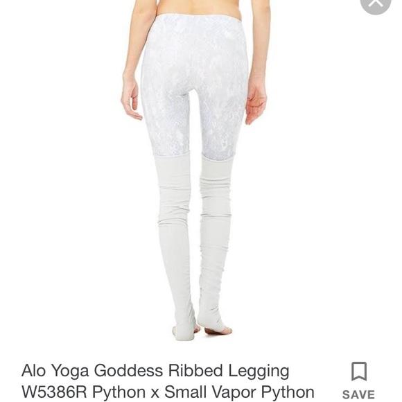 8b404aad975c6a ALO Yoga Pants   Gray Python Goddess Legging   Poshmark